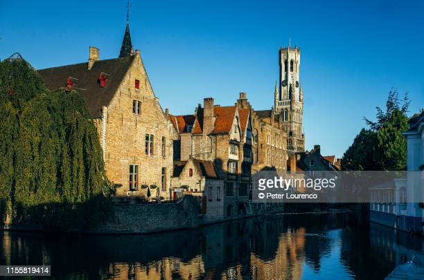 belfry of bruges - peter lourenco stock pictures, royalty-free photos & images
