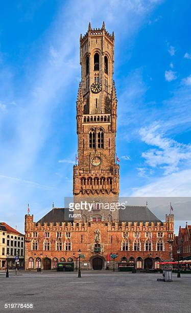 belfry tower in bruges, belgium - bruges stock pictures, royalty-free photos & images