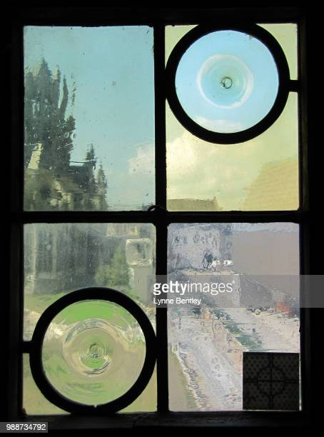 belfry window view - fun house stock pictures, royalty-free photos & images