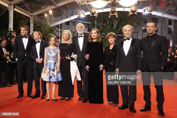 Belgian actor Franz Harduin British actor Toby Jones Belgian actress Fantine Harduin Austrian director Michael Haneke and his wife Susi Haneke French...