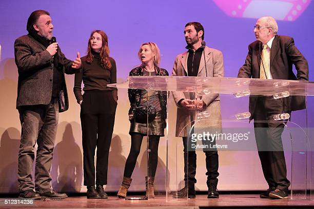 Belgian actor Patrick Descamps french actresses Christa Theret and Florence Thomassin french director Olivier Loustau and Andre Ceuterick festival...