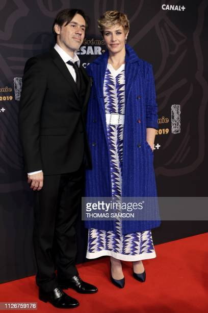 Belgian actress Cecile de France poses upon arrival at the 44th edition of the Cesar Film Awards ceremony at the Salle Pleyel in Paris on February 22...