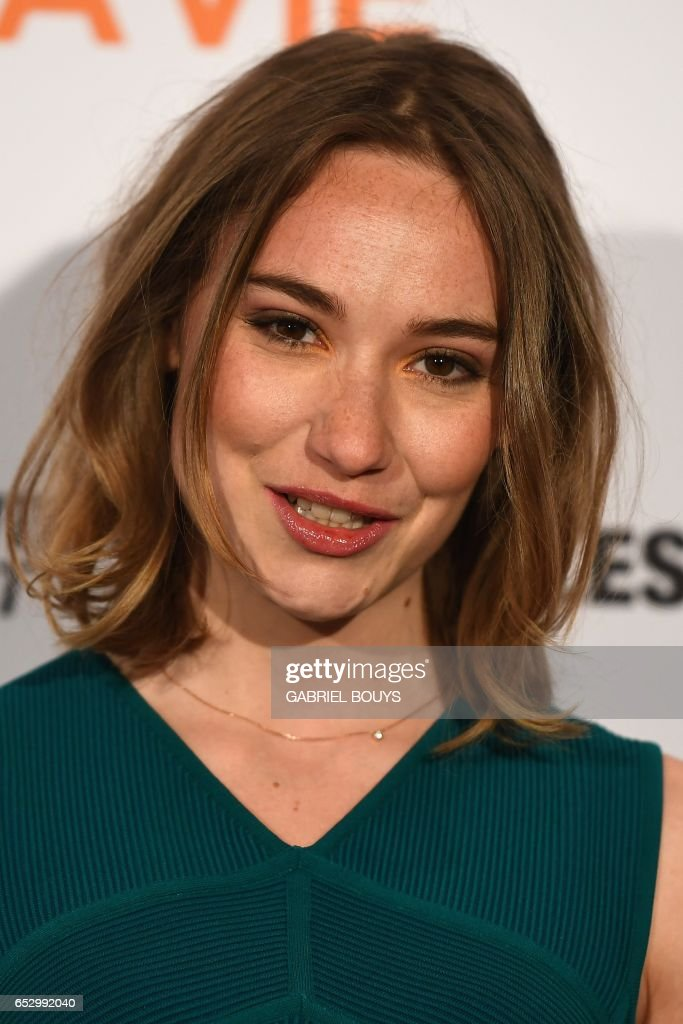 Belgian actress Deborah Francois poses during the photocall for the premiere of the film 'Chacun Sa Vie' in Paris on March 13, 2017. The film is directed by French director Claude Lelouch. /