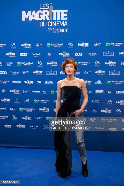 Belgian actress Erika Sainte poses during a photocall for the 7th edition of the Magritte du Cinema awards ceremony in Brussels on February 4 2017 /...