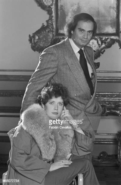 Belgian actress Sylvia Kristel at the Grand Hotel in Rome with her friend, the producer Andre Djaoui.