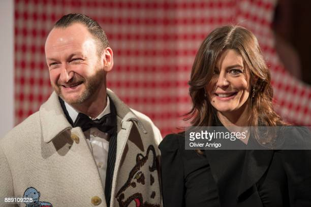 Belgian artist and designer Charles Kaisin and Chiara Mastroianni attends 'Surrealist Dinner Charles Kaisin' at Casino de MonteCarlo on December 9...
