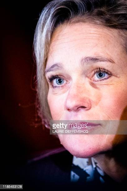 Belgian artist Delphine Boel pictured during a session at the Cassation Court following the demand of King Albert II to contest the arrest of...