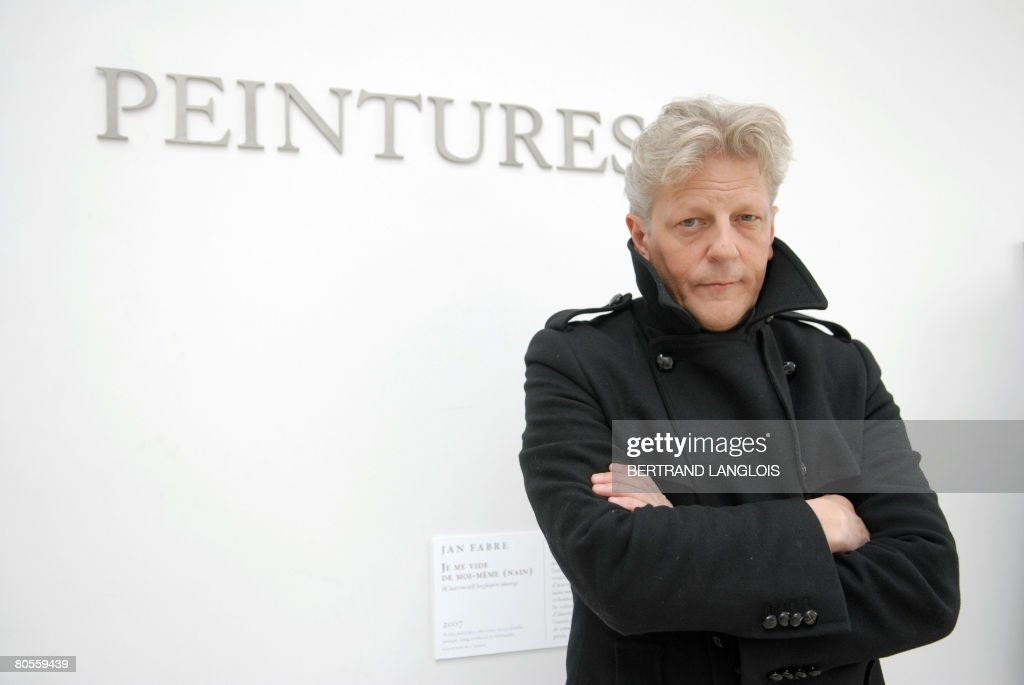 Belgian artist Jan Fabre poses during th : News Photo