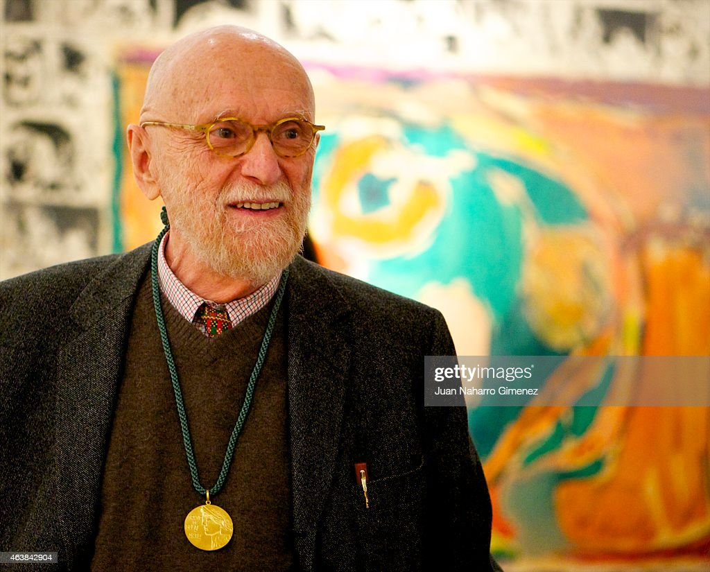 Belgian artist Pierre Alechinsky receives Golden Medal of Circulo de Bellas Artes of Madrid and inaugurates the exhibition 'Pierre Alechinsky, Sobre Papel' (Pierre Alechinsky, On Paper) at Circulo de Bellas Artes on February 19, 2015 in Madrid, Spain.