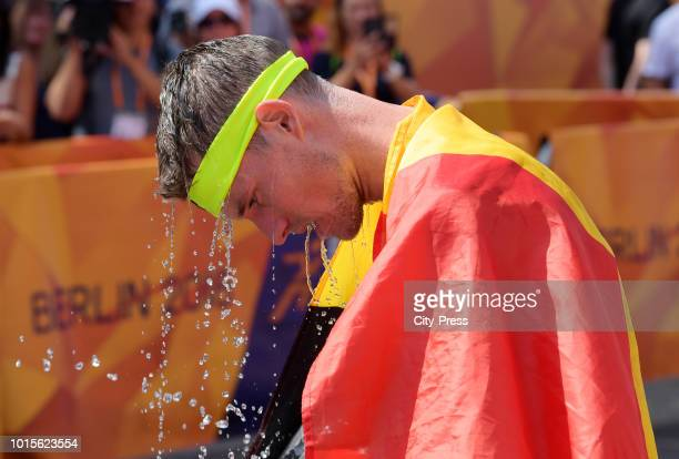belgian athlete Koen Naert in the Mens Marathon final during day six of the 24th European athleteics Championships at Olympiastadion on August 12...