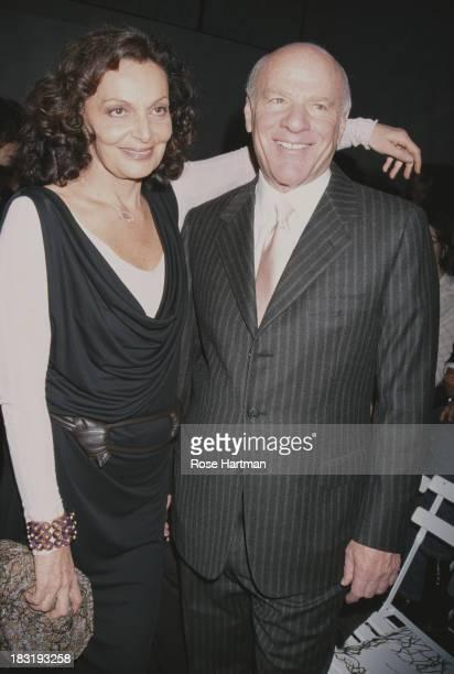 Belgian born American fashion designer Diane Von Furstenberg and husband media executive Barry Diller at the Diane von Furstenberg Fall 2001...