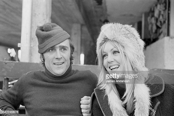 Belgian born French director and screenwriter Marc Simenon with his wife actress Mylene Demongeot
