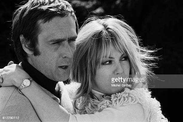 Belgian born French director and screenwriter Marc Simenon with his wife French actress Mylène Demongeot