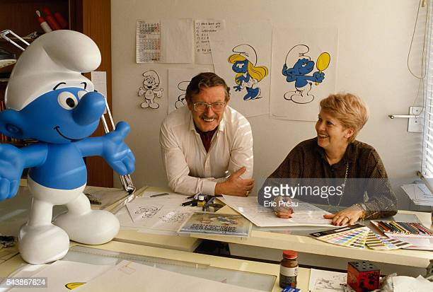 Belgian cartoonist and illustrator known as 'Peyo' is best known for his creation of the 'Smurfs' comic strip or 'Schtroumpfs' created in 1958...
