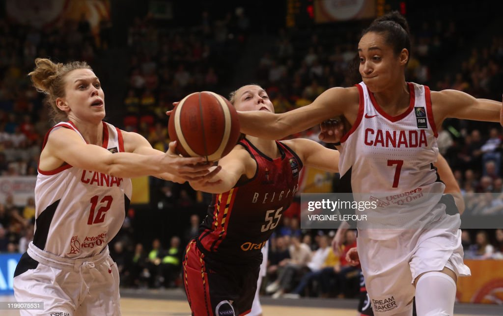 BASKET OLYMPIC QUALIFICATION TOURNAMENT BELGIUM VS CANADA : News Photo