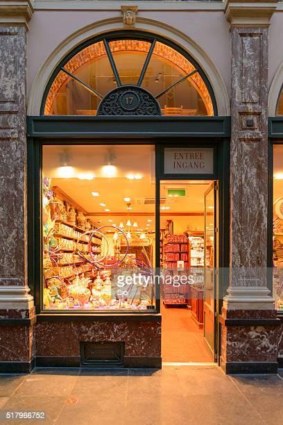 Tienda de los transformadores belgas de chocolate en Bruselas