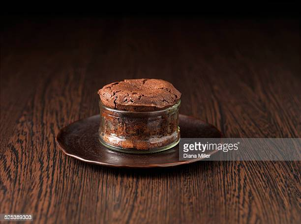 Belgian chocolate souffle