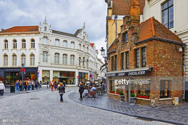 belgian chocolate store - belgian culture stock pictures, royalty-free photos & images