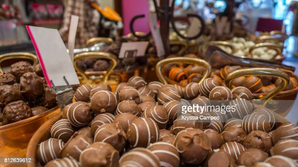 belgian chocolates, bruges, belgium - bruges stock pictures, royalty-free photos & images