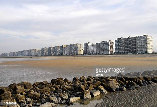 belgian coastline - belgium stock pictures, royalty-free photos & images