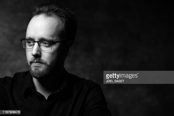 Belgian comic artist Jeremy poses on February 1 in Angouleme, western France, during the 47th Angouleme International Comics Festival .