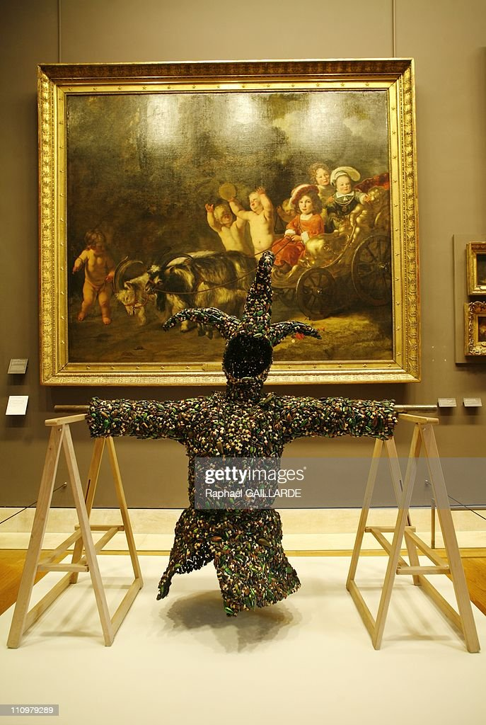Belgian conceptual artist Jan Fabre presents some of his creations at Musee du Louvre in Paris, France on May 23rd, 2008 : News Photo
