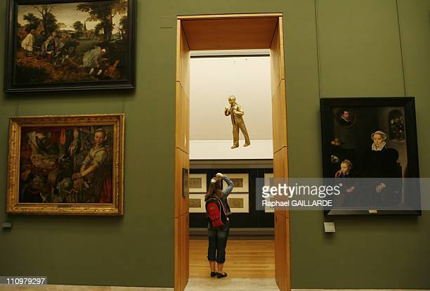 Belgian conceptual artist Jan Fabre presents some of his creations at Musee du Louvre in Paris France on May 23rd 2008 Belgian conceptual artist Jan...