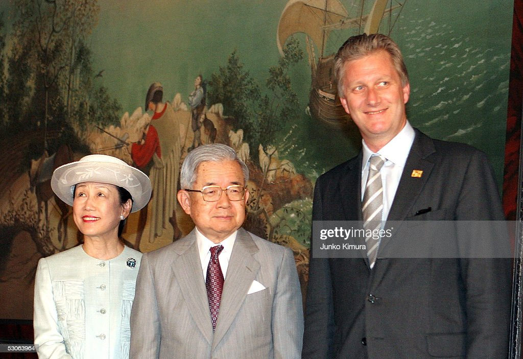 Belgian Crown Prince Philippe Visits The World Expo At Aichi : News Photo