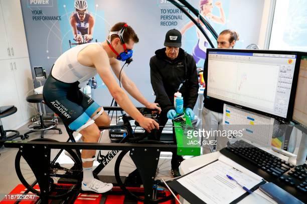 Belgian cyclist Ben Hermans member of cycling team Israel StartUp Nation is pictured during medical tests on December 10 2019 in Tel Aviv Israel...