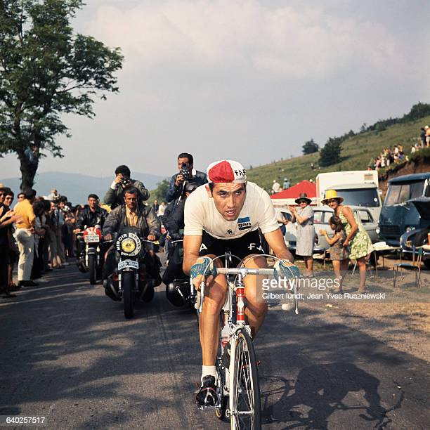 Belgian cyclist Eddy Merckx of the Faema team during the 1969 Tour de France