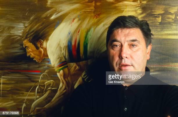 Belgian cyclist Eddy Merckx studio portrait Meise Belgium 26th December 2000