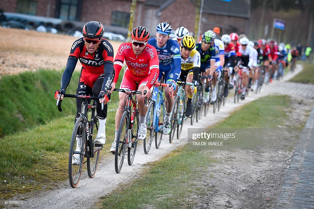 Belgian Cyclist Greg Van Avermaet Of BMC Racing Team, French Cyclist  Florian Senechal Of Team