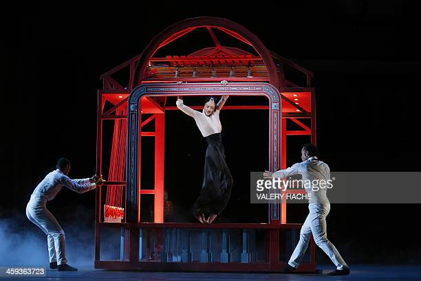 Belgian dancer Bernice Coppieters and of the MonteCarlo ballet perform in the show CasseNoisette et Compagnie a new creation by French dancer and...