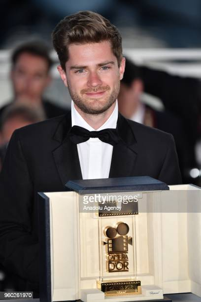 Belgian director Lukas Dhont poses during the Award Winners photocall after he won the Camera d'Or Prize for 'Girl' at the 71st Cannes Film Festival...