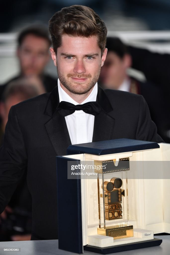Belgian director Lukas Dhont poses during the Award Winners photocall after he won the Camera d'Or Prize for 'Girl' at the 71st Cannes Film Festival in Cannes, France on May 19, 2018.