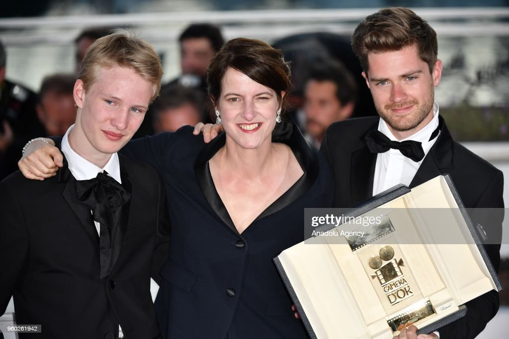 Ursula Polster Design.Belgian Director Lukas Dhont Poses With Ursula Meier And