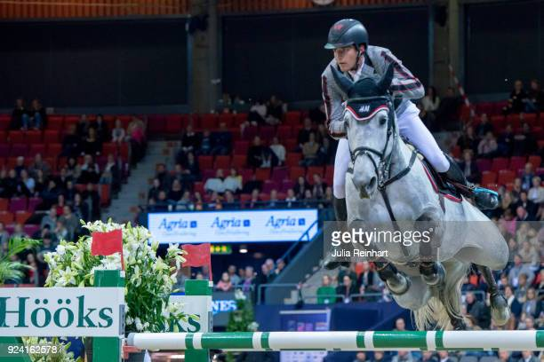 Belgian equestrian Nicola Philippaerts on HM Harley vd Bisschop places fourth in the FEI Longines World Cup jumping during the Gothenburg Horse Show...