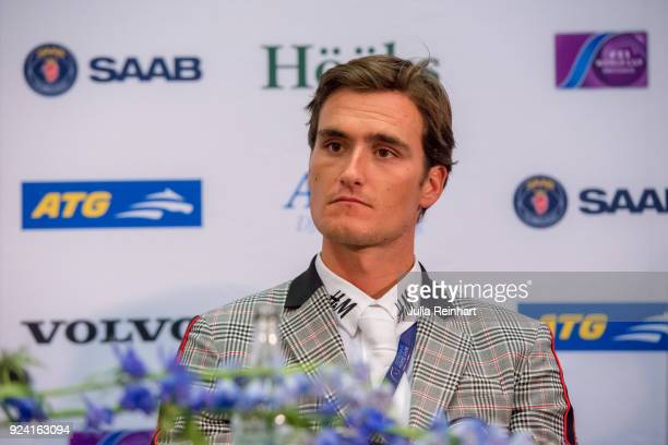 Belgian equestrian Olivier Philippaerts on HM Legend of Love places second in the FEI Longines World Cup jumping during the Gothenburg Horse Show in...