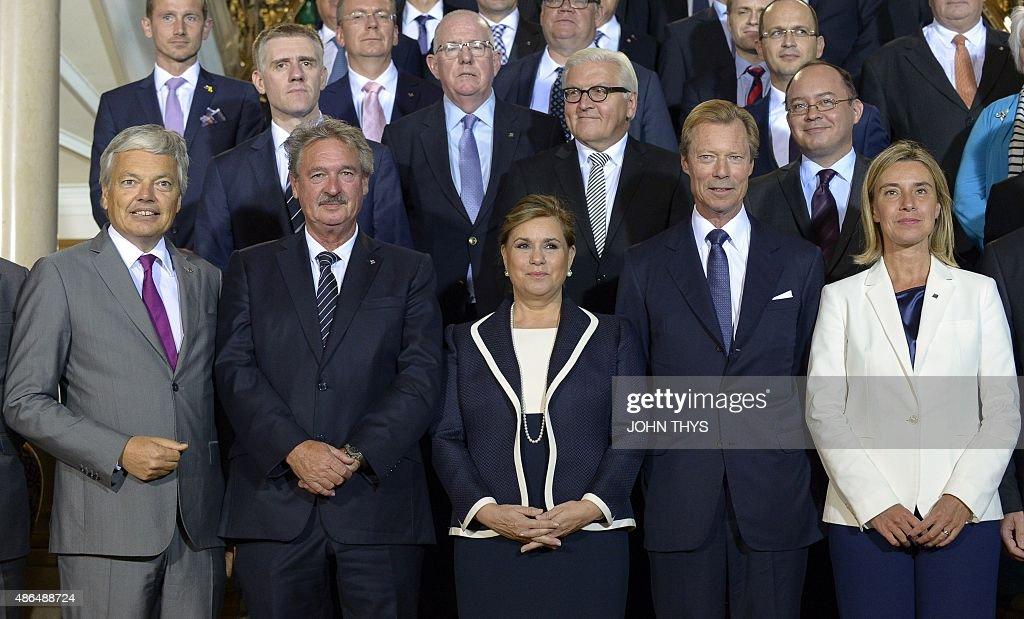 LUXEMBOURG-EU-DIPLOMACY-MIGRANTS-ROYALS : News Photo