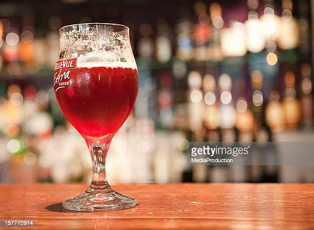belgian fruit beer - traditionally belgian stock pictures, royalty-free photos & images