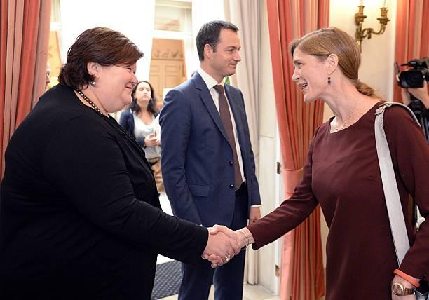 Belgian Health and Social Affairs Minister Maggie De Block ...