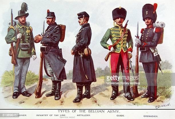 Belgian infantry uniforms during world war one