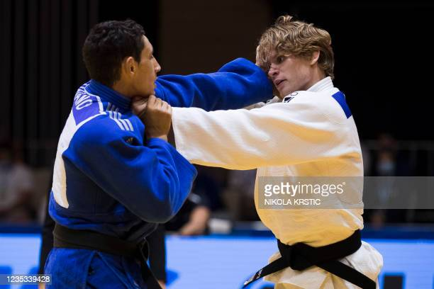 Belgian Jeroen Casse pictured at a fight in the -73kg category at the European Judo Open in Sarajevo, Bosnia and Herzegovina, Saturday 18 September...