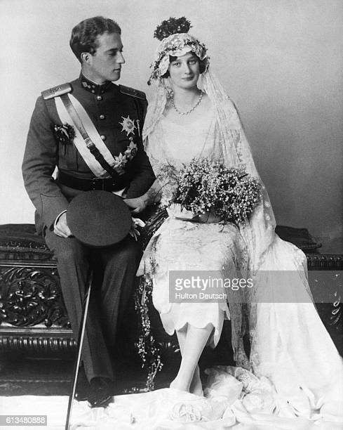 Belgian King Leopold III and Queen Astrid on the day of their marriage