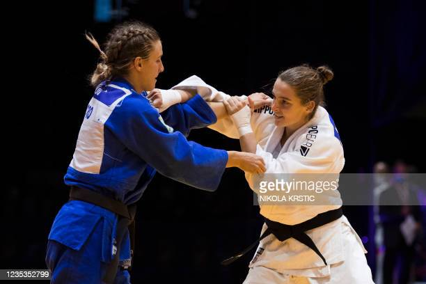 Belgian Lien Meeuwssen picture in a fight of the women -70kg category at the European Judo Open in Sarajevo, Bosnia and Herzegovina, Sunday 19...