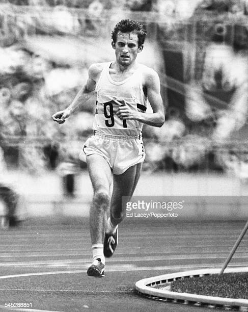 Belgian long distance runner Karel Lismont pictured at the close of the marathon event to finish third at the Olympic Games Montreal July 1976