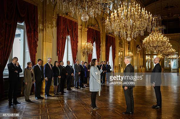 Belgian Minister of Energy, Environment and Sustainable Development Marie-Christine Marghem takes the oath of office in front of Belgium's King...