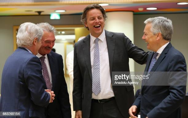 Belgian Minister of Foreign Affairs Didier Reynders and Bert Koenders Minister of Foreign Affairs of the Netherlands and Foreign Minister of...