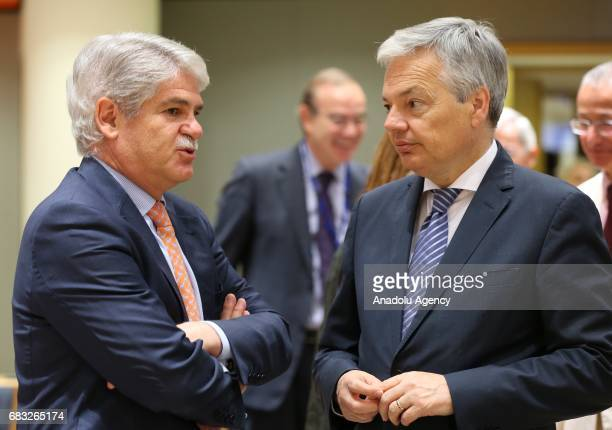 Belgian Minister of Foreign Affairs Didier Reynders attends the EU Foreign Affairs Ministers meeting at the EU headquarters in Belgium Brussels on...