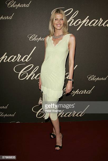 Belgian model Ingrid Seynhaeve attends the 'Chopard Party' at the Carlton Hotel during the 59th International Cannes Film Festival May 20 2006 in...